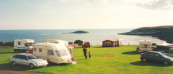 Bay View Farm Caravan and Camping Site overlooking Looe Bay, Cornwall